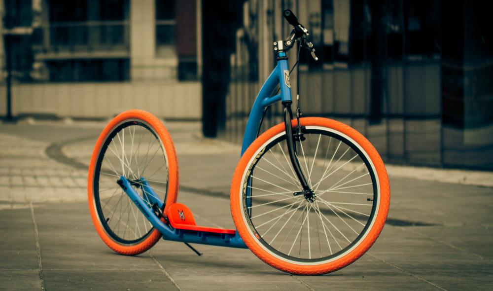 Niebiesko-pomarańczowa huljanoga miejska