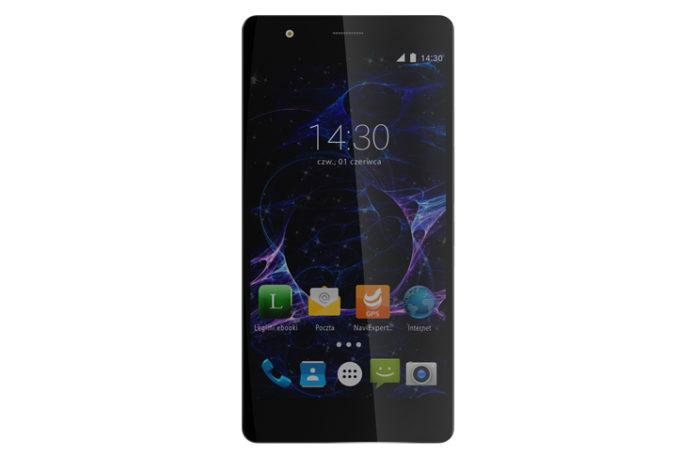 Czarny smartfon Myphone