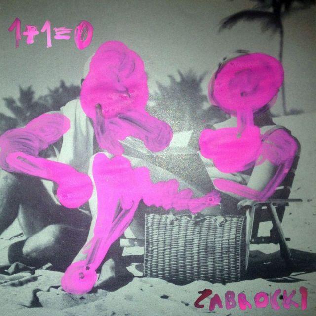 Różowo-szara okładka płyty Zabrockiego