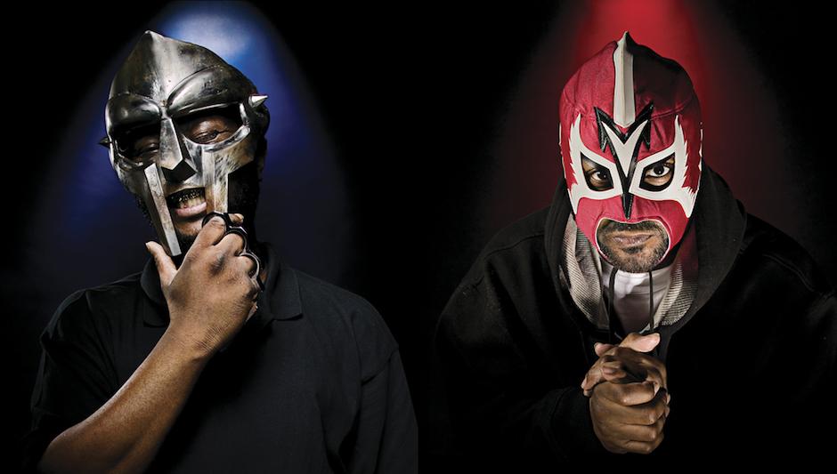 Dwóch raperów w maskach