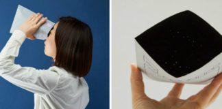 Japonka patrzy w kopertę