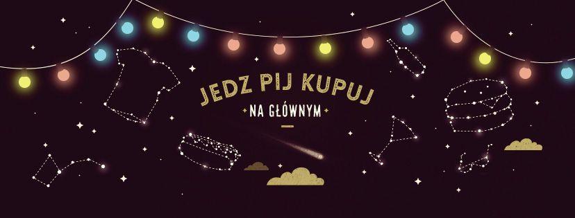 Czarne logo Nocnego Marketu, neonowe napisy