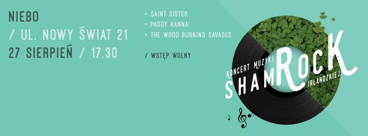 Plakat festiwalu muzyki irlandzkiej w Warszawie