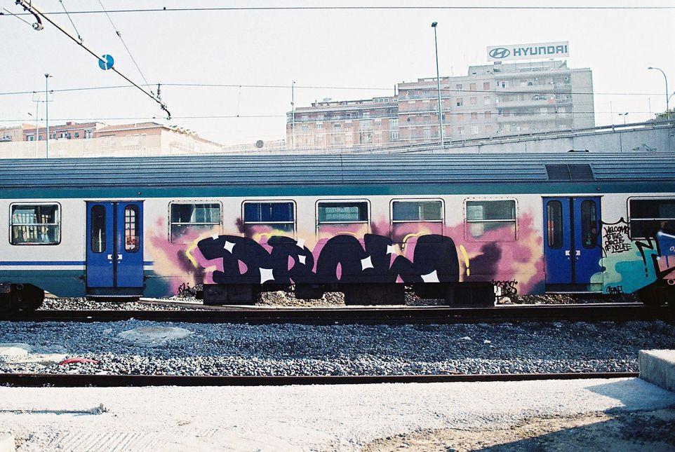 Pociąg w graffiti