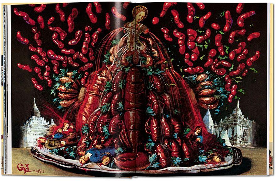 wielka potrawa z krabow w wizji Dalego