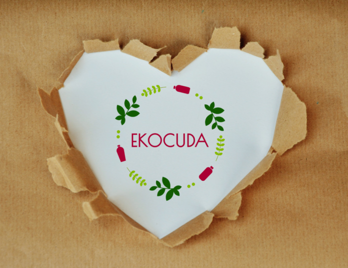 Serce z papieru w logo Ekocuda