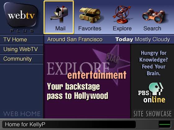 Zrzut ekranu programu obsługującego internet w telewizorze