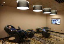 Pokój z fotelami w centum handlowym w Szanghaju