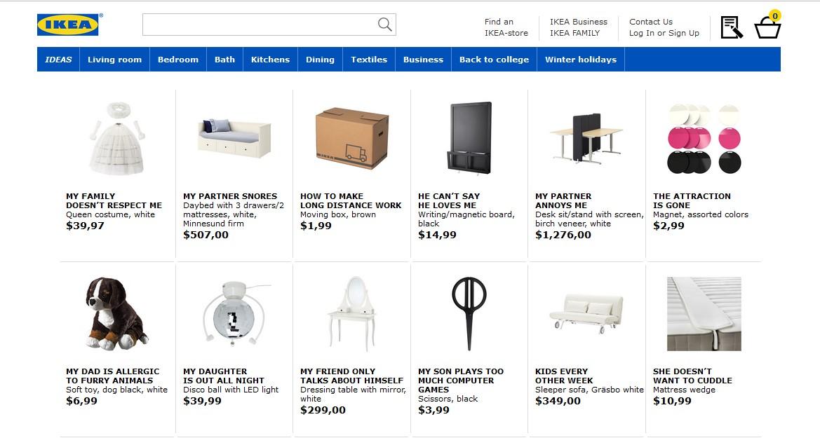 Produkty z Ikei