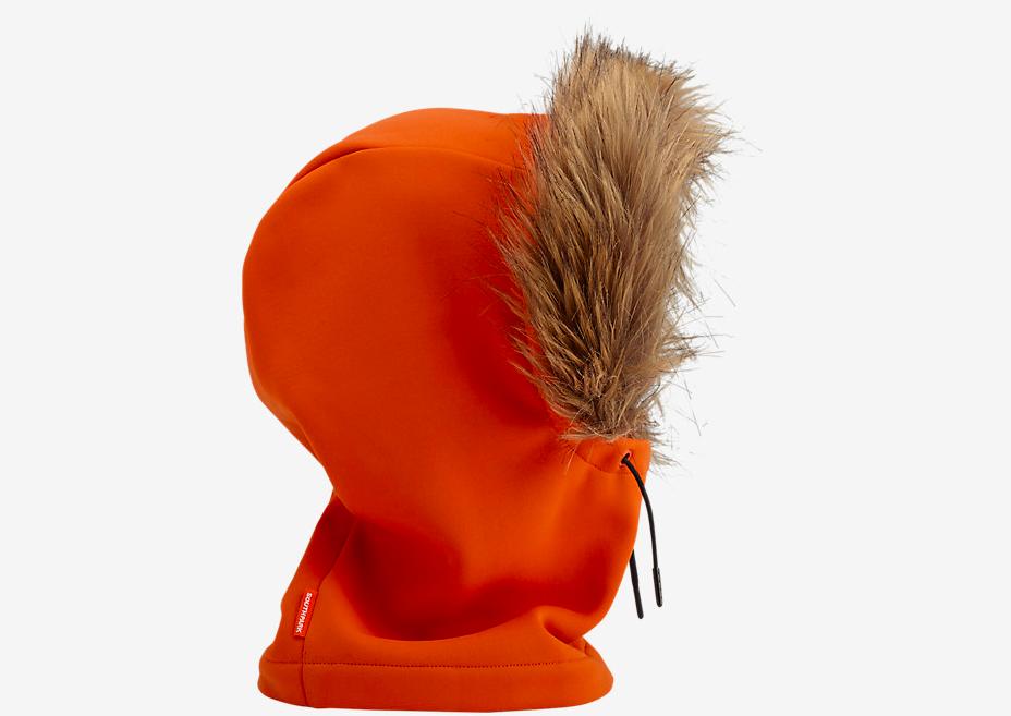 Pomarańczowy kaptur z futrem
