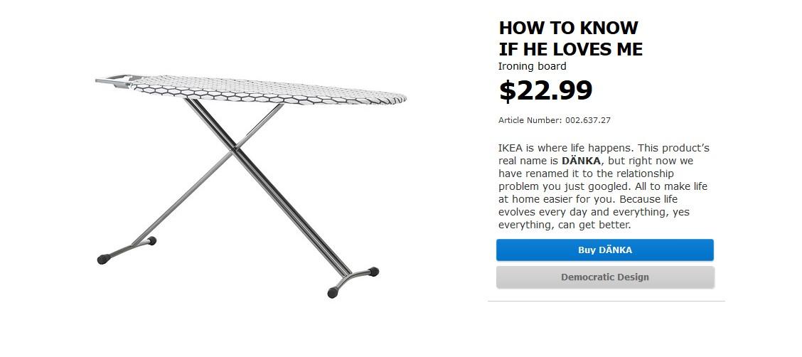 Deska do prasowania z Ikei