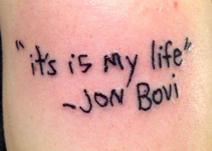 "Tatuaz ""It;s my life"""
