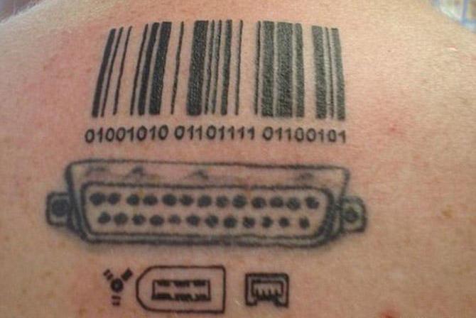 Tatuaż kod kreskowy
