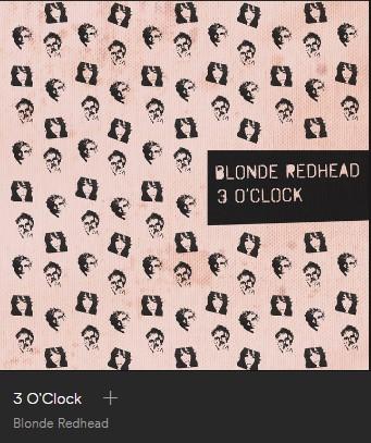 Spotify singiel Blonde Redhead