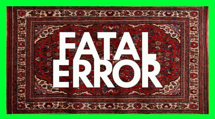Perski dywan z napisem Fatal Error