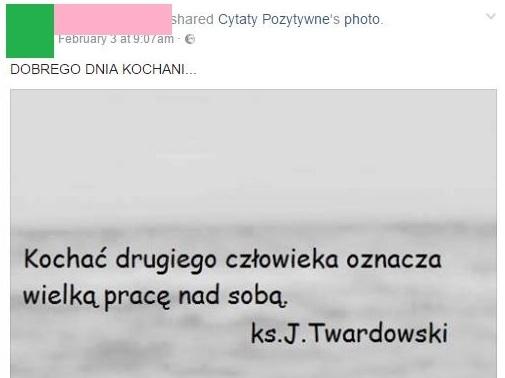 Zrzut ekranu z FB