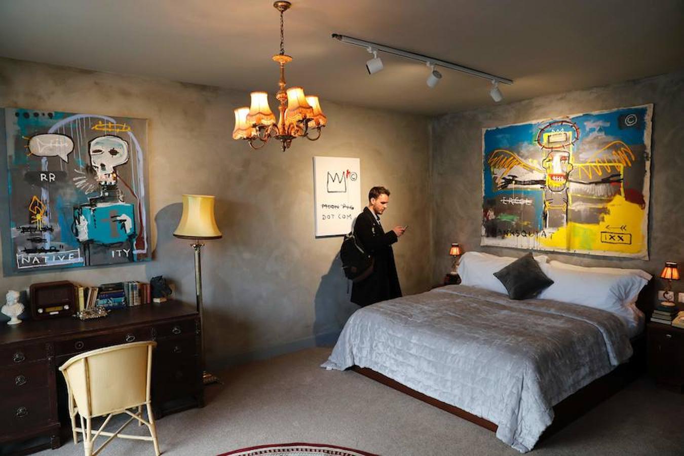 Sypialnia w hotelu Baksyego
