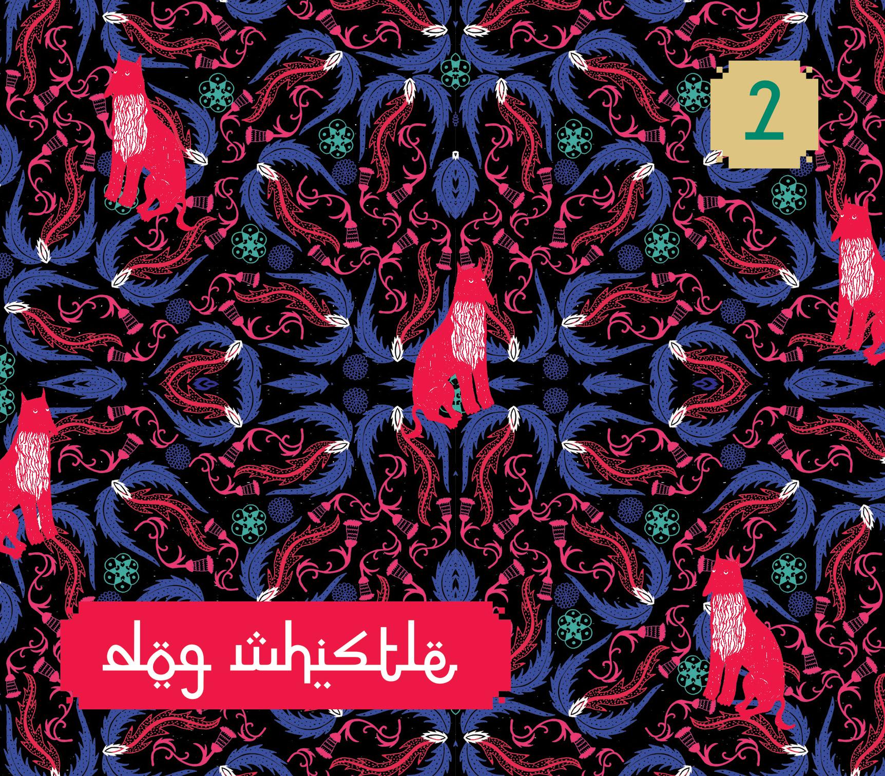 Kolorowa okładka płyty zespołu Dog Whistle