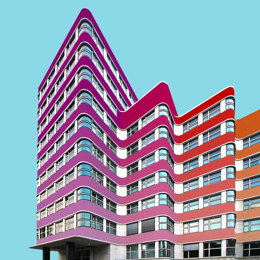Pokolorowany budynek w Berlinie
