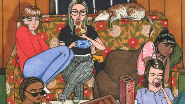 Kobiety siedzace na kanapie