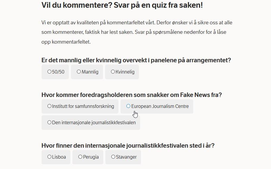 Test po norwesku, z rozumienia czytanego tekstu