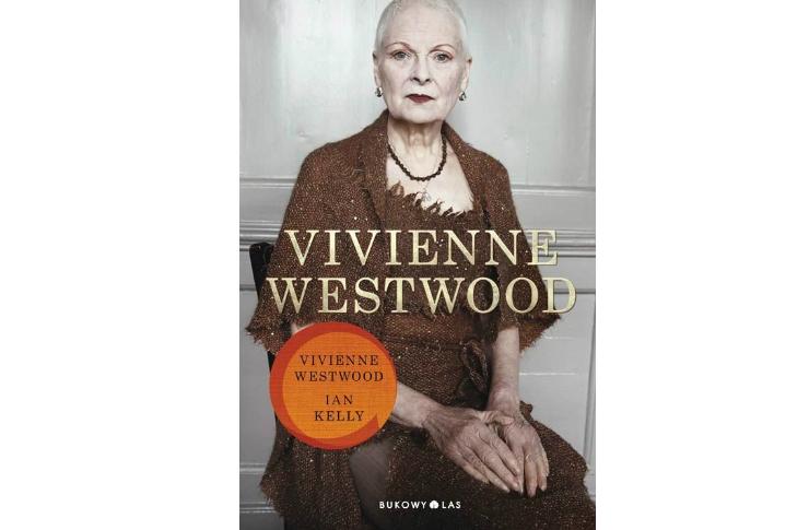 Okładka książki ze starszą kobietą ubraną w brązową sukienkę