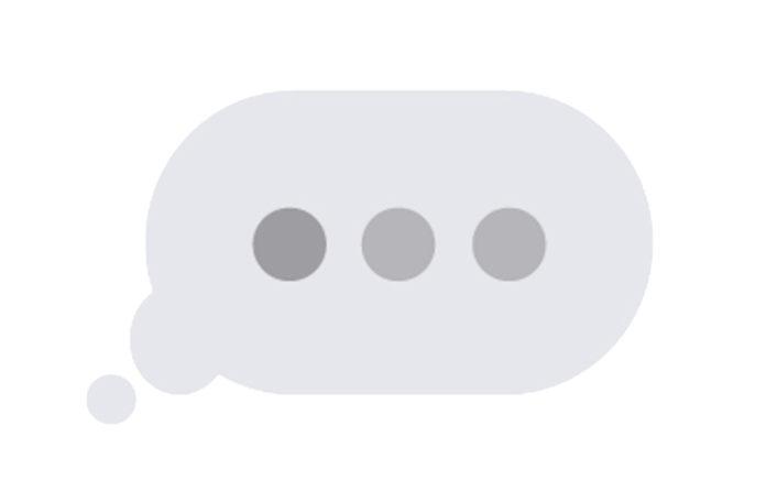 Znak odpisywania na wiadomość z aplikacji messenger