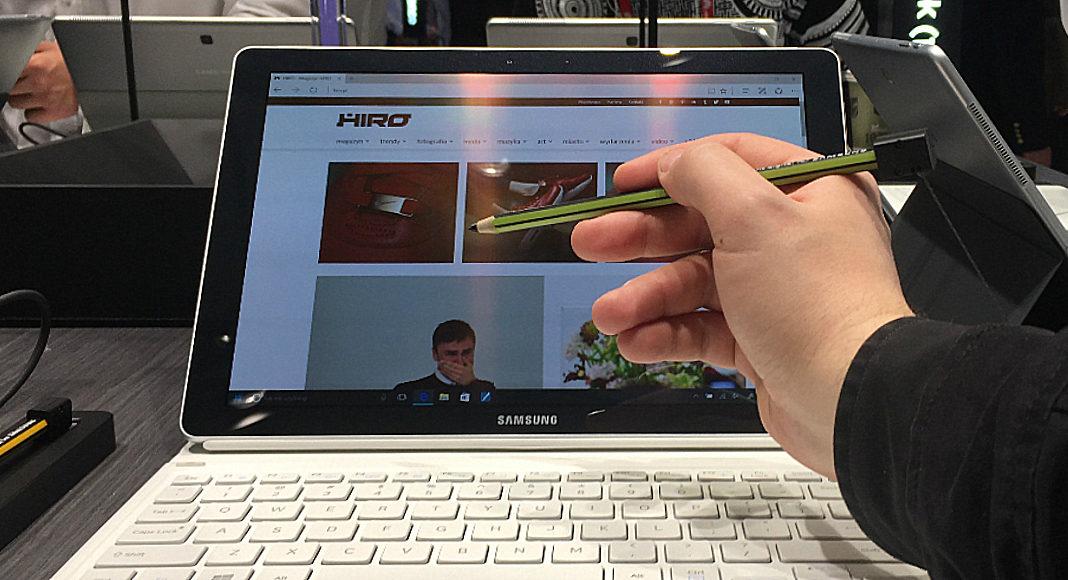 Komputer z otwartą stroną HIRO