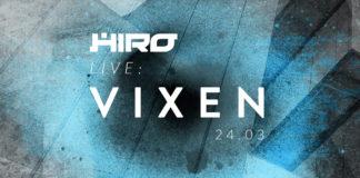 Plakat promujący wydarzenie HIRO Live z VIXENEM