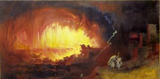 Obraz przedstawiający zniszczenie Sodomy i Gomory
