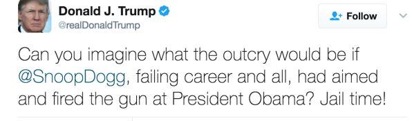 Tweet Trumpa na temat teledysku