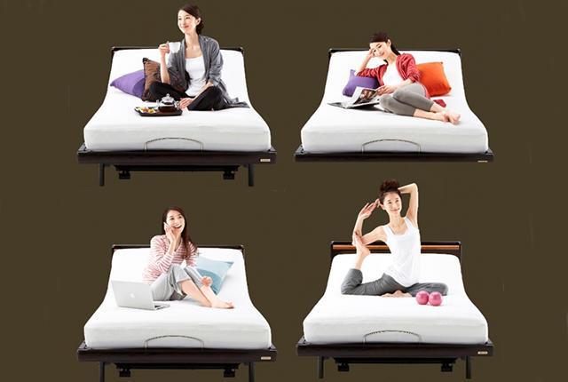 Cztery kobiety leżące na czterech łóżkach