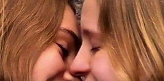 Dwie całujące się dziewczyny