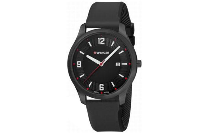 Czarny męski zegarek ze wskazówkami