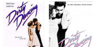 Oryginalny i remake'owy plakat filmu Dirty Dancing
