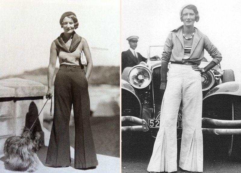 dwie kobiety w szerokich spodniach