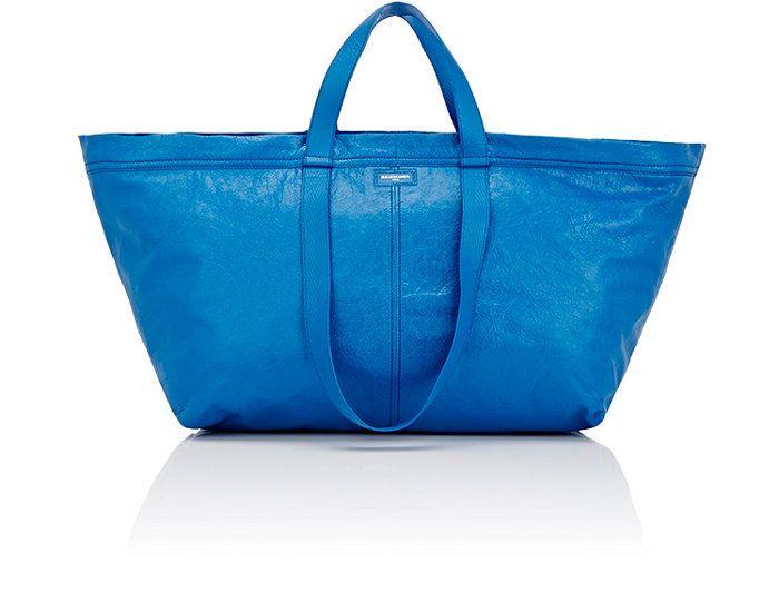 Wielka niebieska torba typu shopper