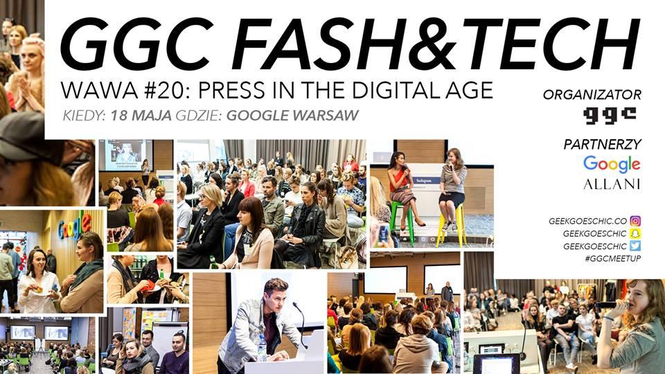 Plakat promujący spotkanie GeekGoesChic