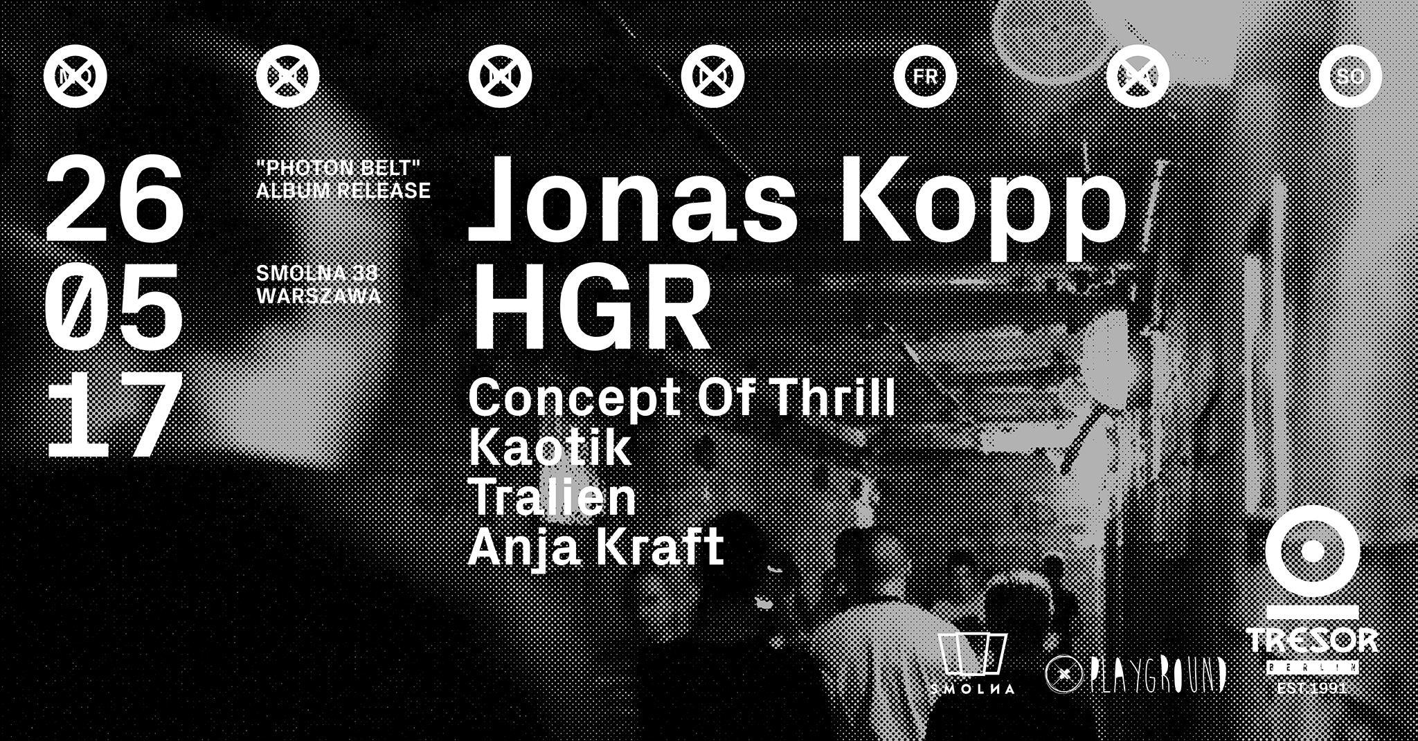 Baner zapowiadający imprezę Tresor Jonas Kopp