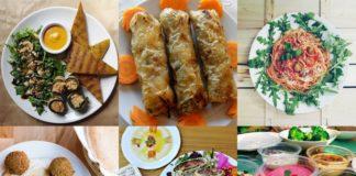 Sześć zdjęć przedstawiających jedzenie