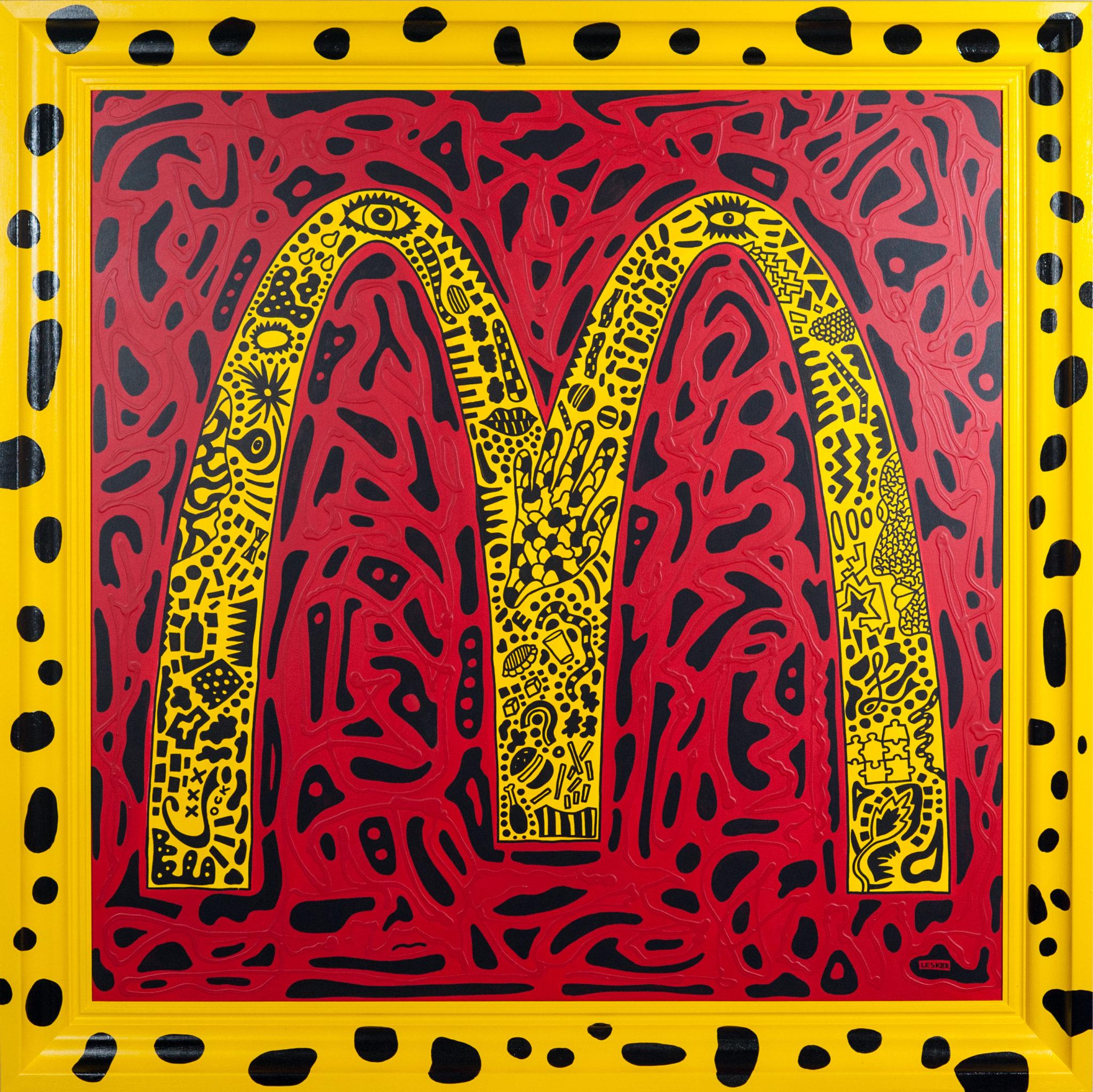 Logo McDonald's w cętki