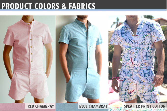 Na zdjęciu widzimy cztery sylwetki mężczyzn od szyi do kolana ubranych w kolorowe kombinezony