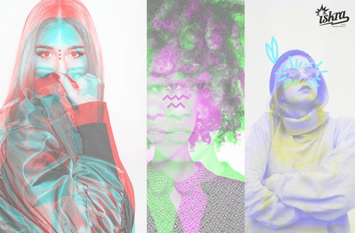 Zdjęcia trzech dziewczyn połączone w jedno
