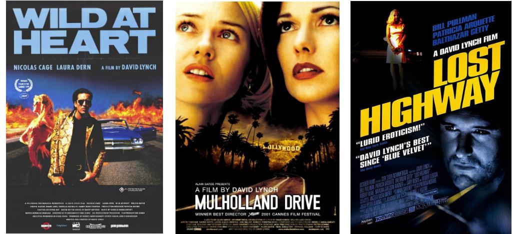 Trzy plakaty z filmów Davida Lyncha