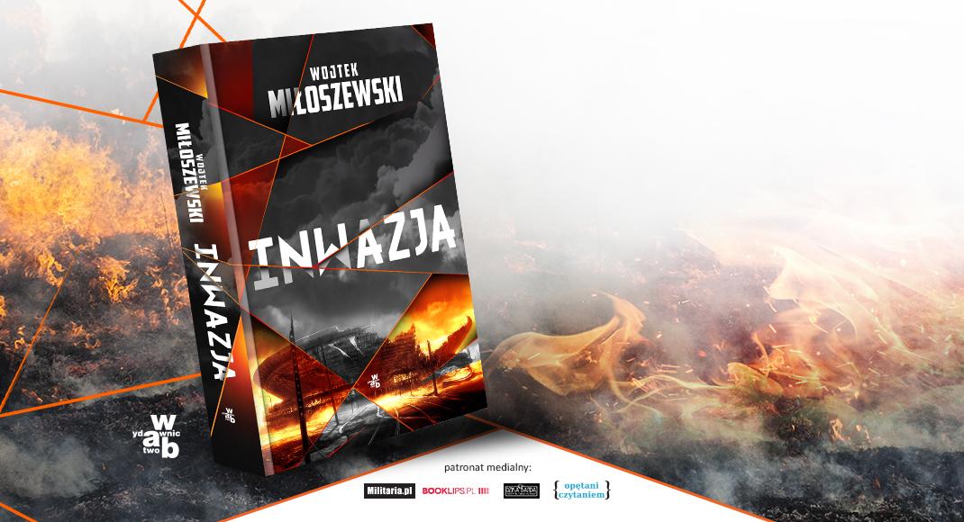 Baner promujący książkę inwazja