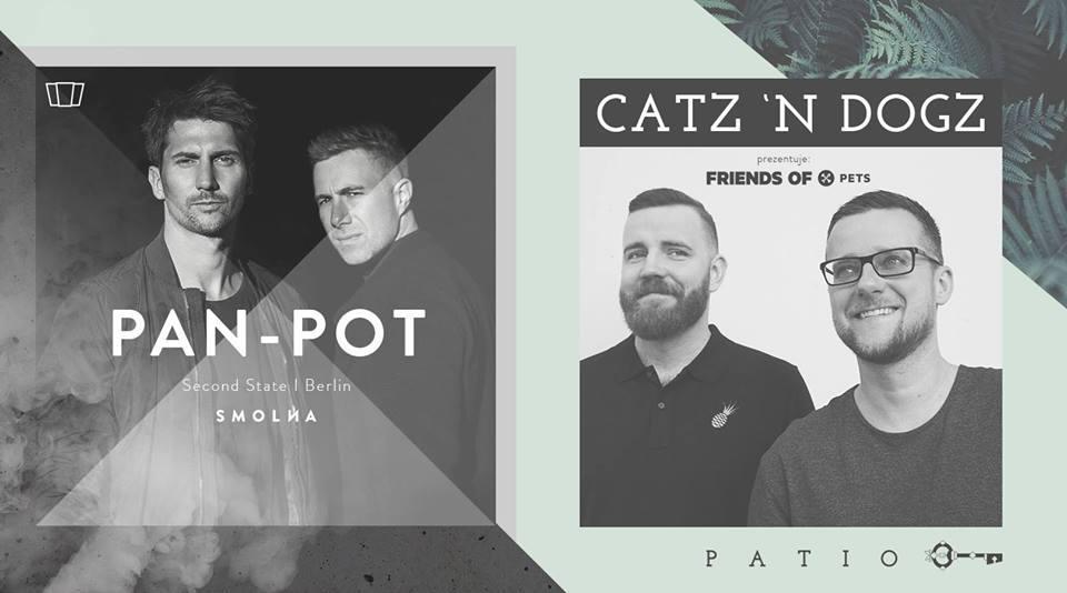 Plakat promujący koncert Smolna: Pan-Pot & Catz 'N Dogz