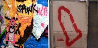 Zdjęcie ukazuje rysunek penisa, do którego dorysowana jest prezerwatywa. Obok rysunku znajduje się odnośnik do strony internetowej