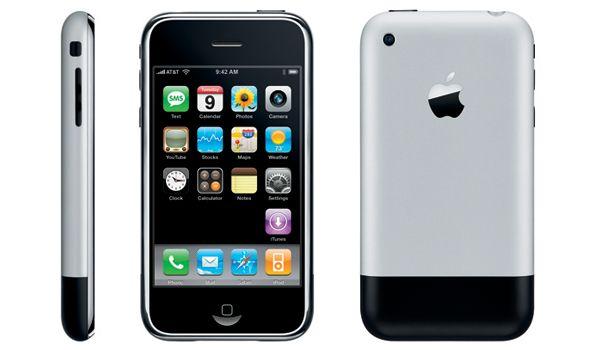 Przód i tył telefonu iPhone 2G