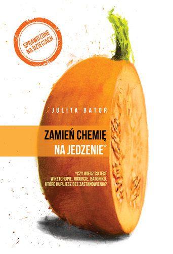 okladka ksiazki z pomaranczowym owocem