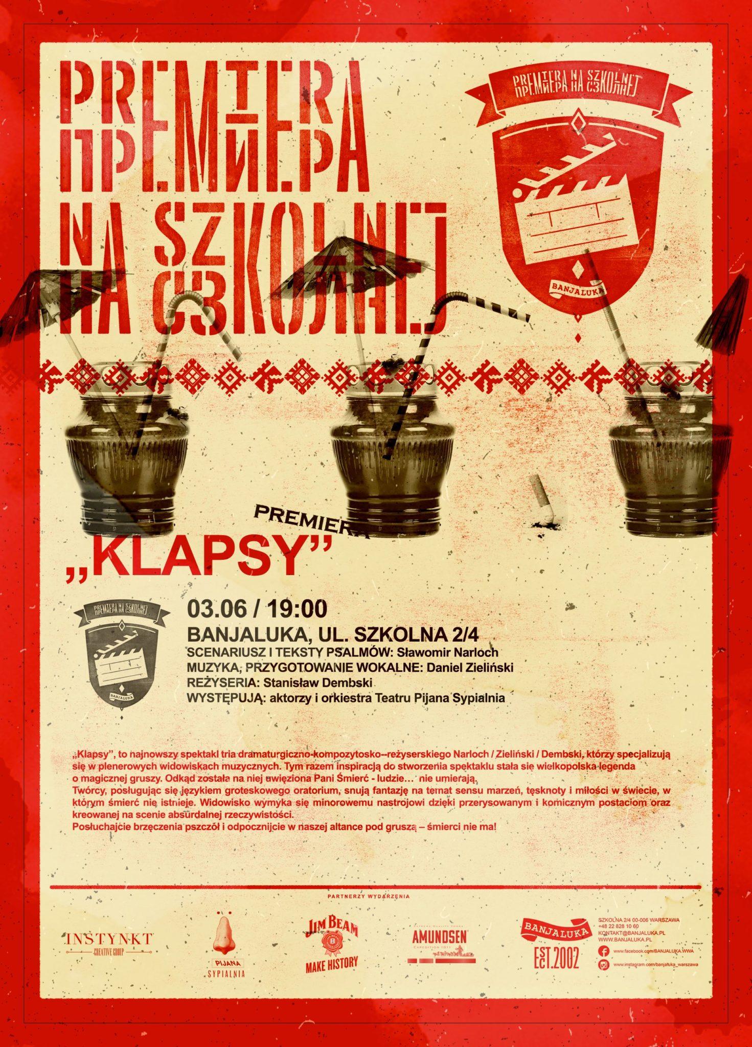 Plakat promujący występ Pijanej Sypialni w Banjaluce